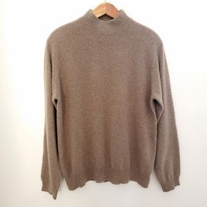 Charter Club 100% Cashmere Brown Mockneck Sweater